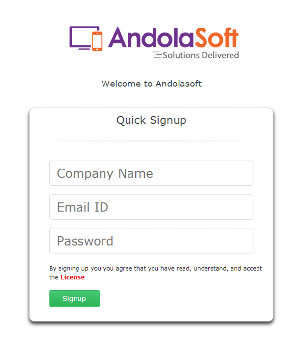 Update Signup page