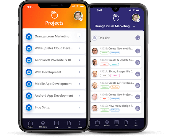 Enterprise Project Management Tool Mobile App