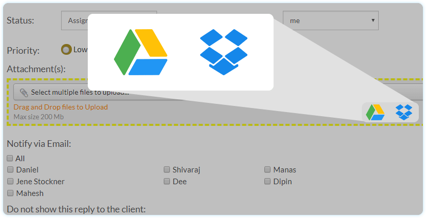 Google & Dropbox Integration