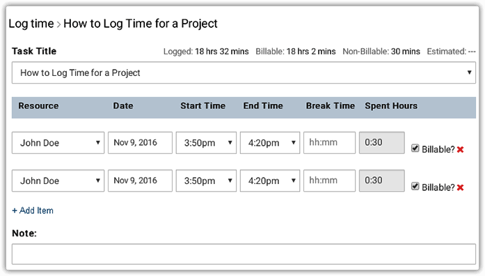 Log Time with Time Tracking Software