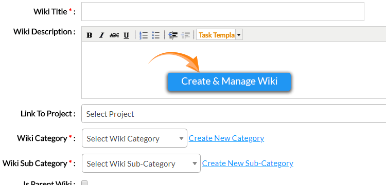 Wiki Add-on Orangescrum | Project Management Tool