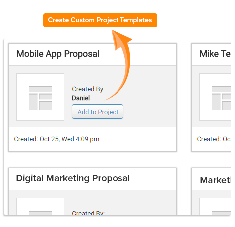 Project template add on orangescrum create project templates for Customizing project templates